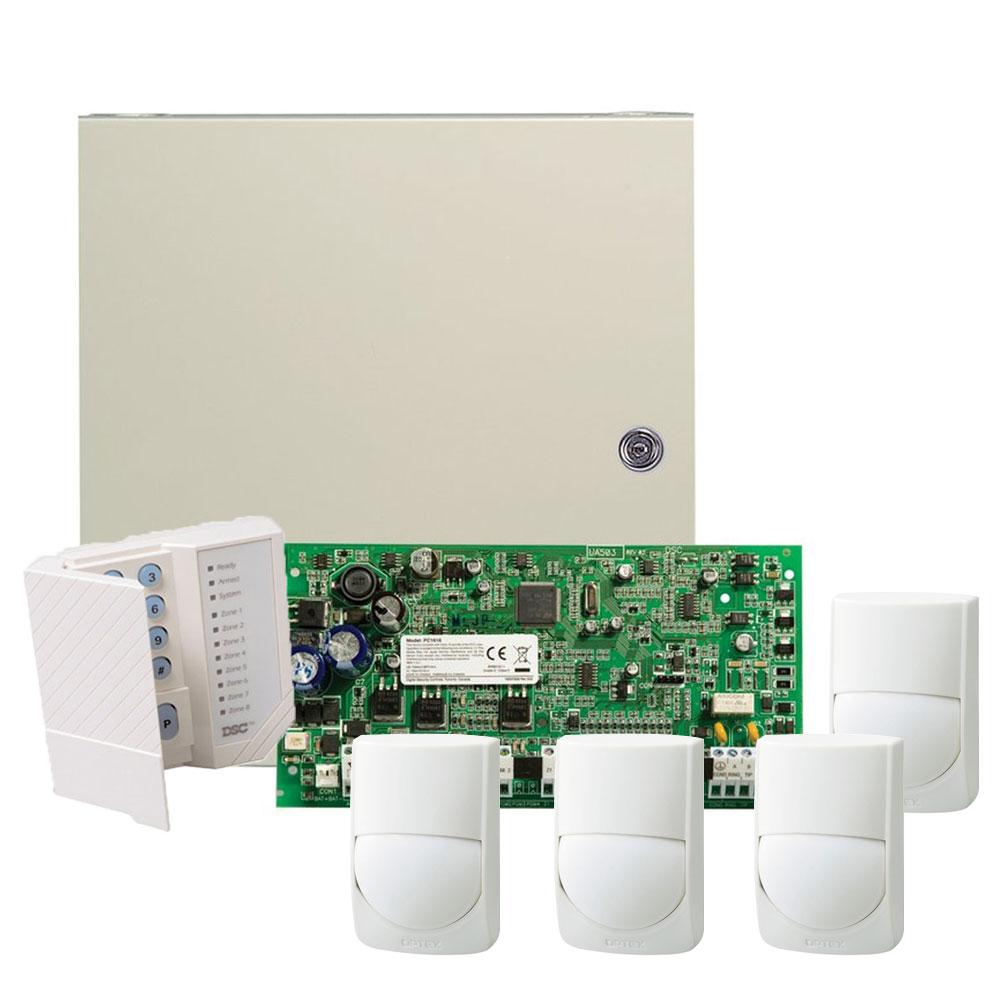 Sistem alarma antiefractie Paradox PC1616-4XRXC-ST, 2 partitii, 6 zone, 48 utilizatori, 4 detectori