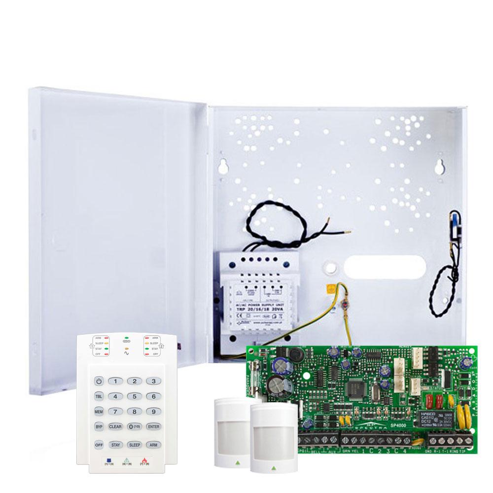 Sistem alarma antiefractie Paradox Spectra SP 4000+K10V+2x476+, 2 partitii, 4 zone, 32 utilizatori imagine spy-shop.ro 2021