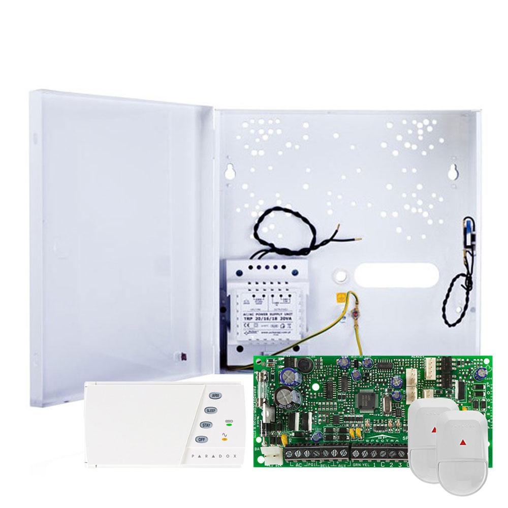 Sistem alarma antiefractie Paradox Spectra SP 4000+K636+2xNV5-SB, 2 partitii, 4 zone, 32 utilizatori imagine spy-shop.ro 2021