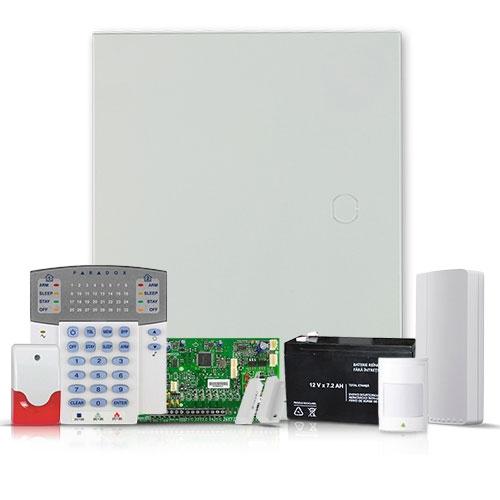 Sistem alarma Paradox SP 5500 interior + Comunicator GSM/GPRS, 2 partitii, 5 zone, extensibil 32 zone imagine spy-shop.ro 2021