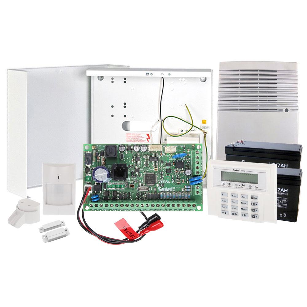 Sistem alarma antiefractie Satel KIT MIDDLE VERSA 5, 2 partitii, 5-30 zone, 4-12 iesiri PGM, 30 utilizatori