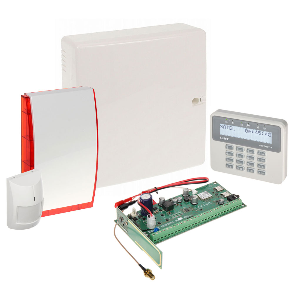 Sistem alarma antiefractie wireless Satel PERFECTA 16 WRL, 2 partitii, 8-16 zone, 4-12 iesiri, 15 utilizatori