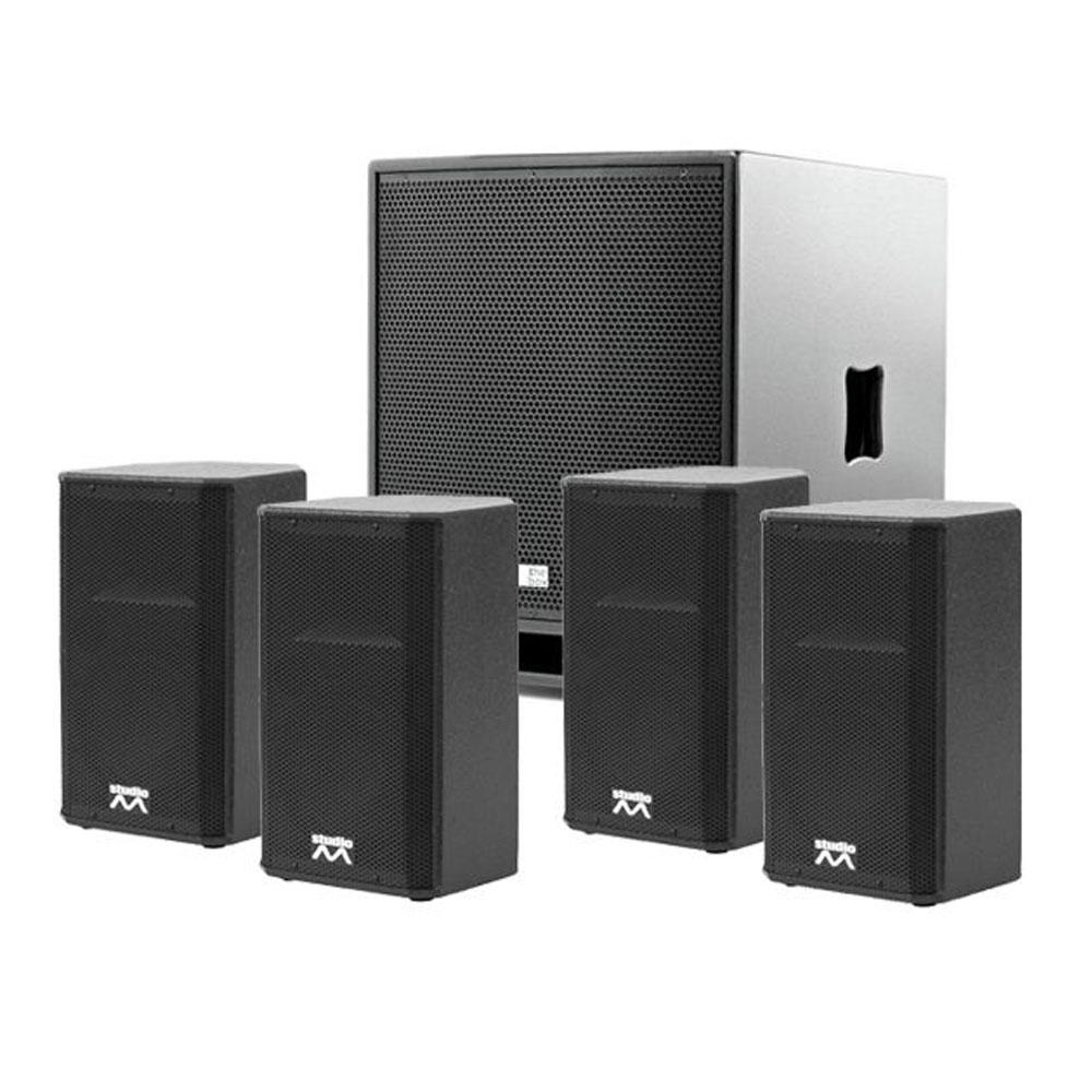 Sistem audio 4.1 Noiz Powerline 907014, 660 W RMS, boxe 8 inch, subwoofer 15 inch, muzica ambientala