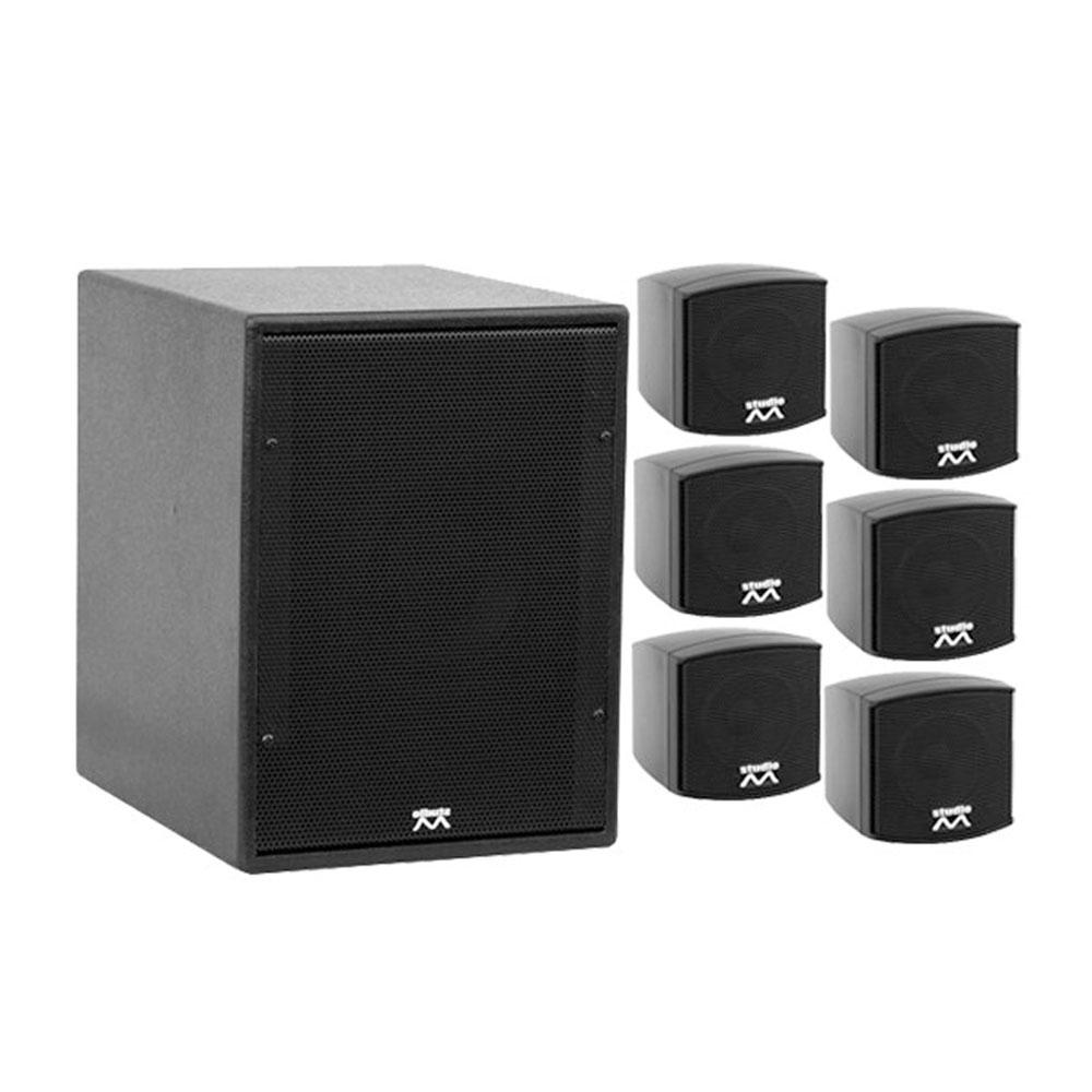 Sistem audio Activ Studio-M Omni-25 908114, 120 W bass, 6x30 W sateliti, woofer 6.5 inch
