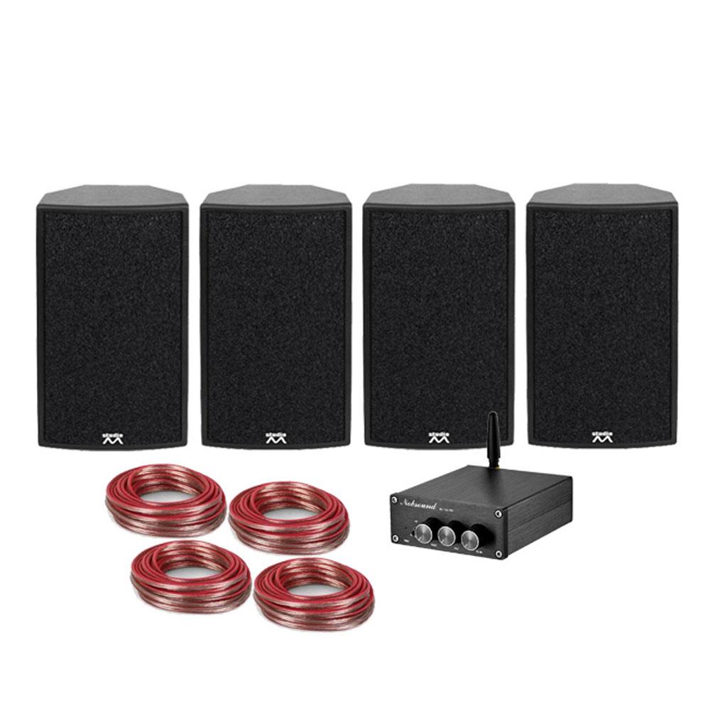 Sistem audio Micromax PRO-4-HDM 911409, 4x50W, bluetooth