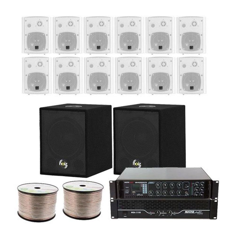 Sistem audio Noiz Gym System 3 BT 908149, 450 W RMS, 12 inch, bluetooth