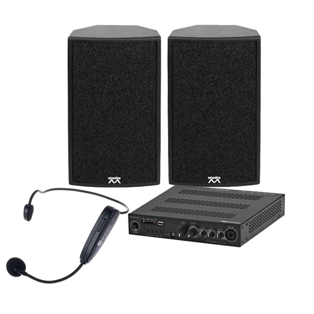 Sistem audio Noiz Music-Power-1 GRA007, 2x250 W, 2.4 GHz, bluetooth, fitness