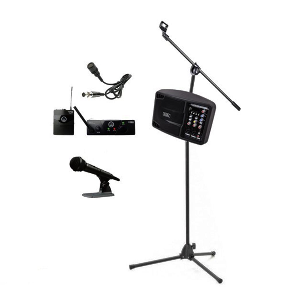Sistem audio portabil SOUNDKING PSM05R, microfon AKG Wireless lavaliera - bluetooth