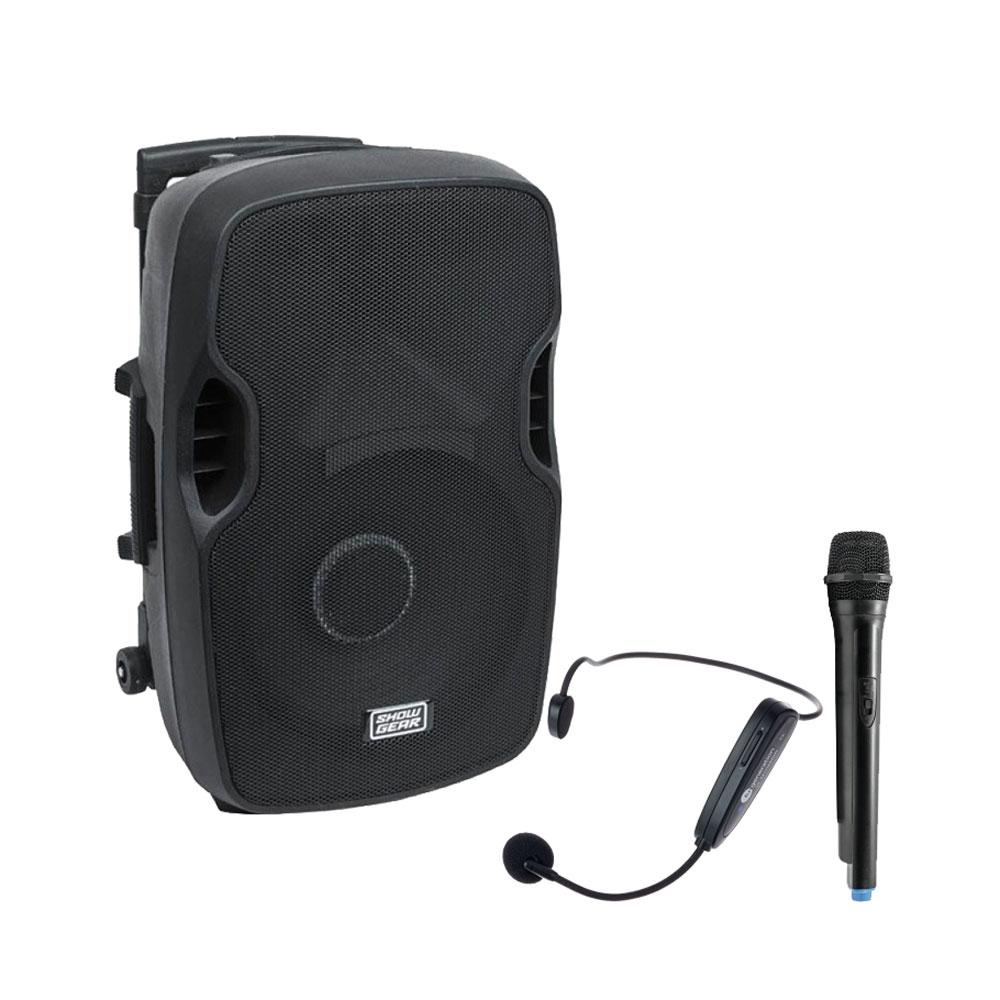 Sistem audio portabil Sport Center 3-Mobile N10656, 100 W, 2.4 GHz, microfon wireless headset, sala fitness