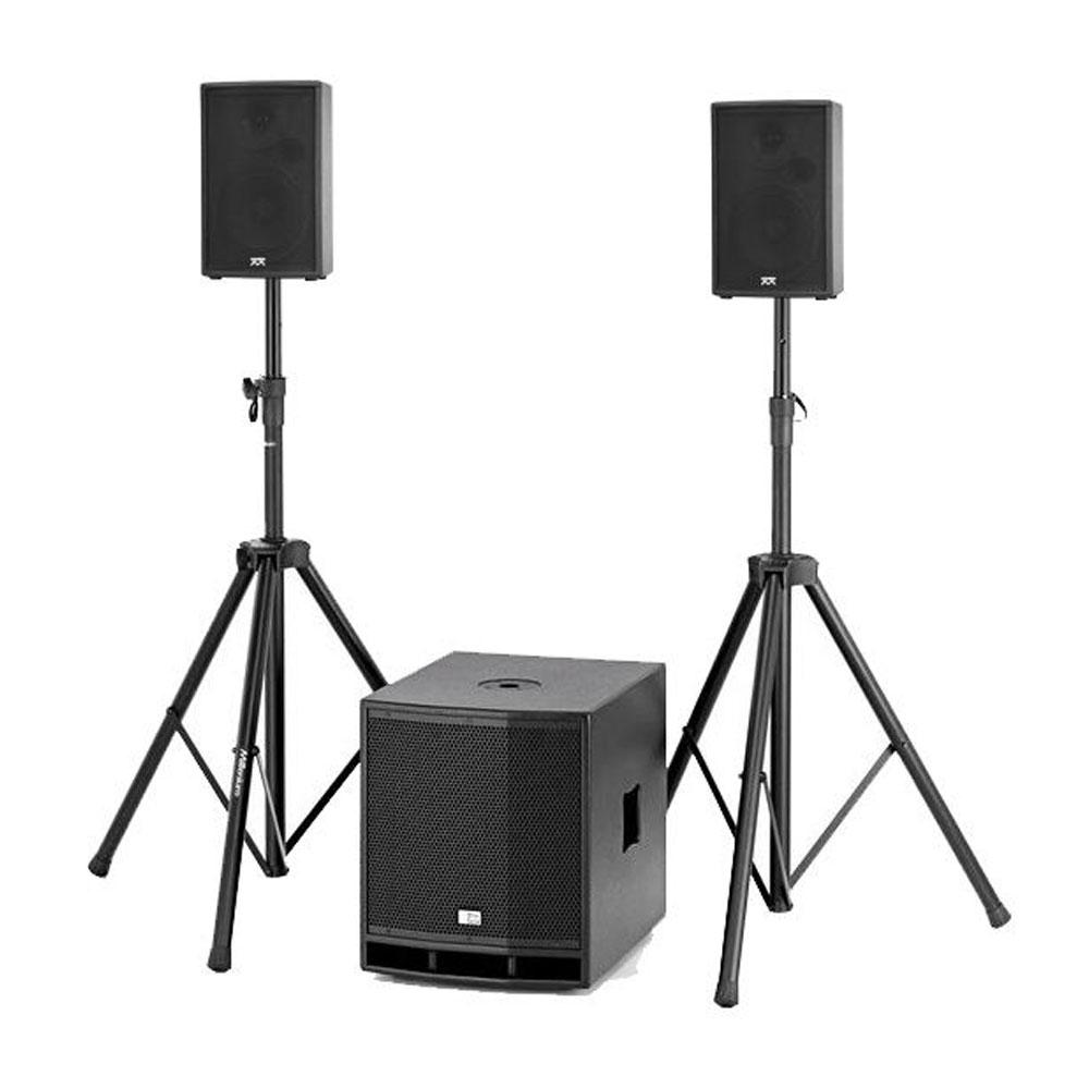 Sistem audio profesional Noiz Dj Set 1 CL112-Micromax HDX 906035, 300 W, boxe 6.5 inch, subwoofer 12 inch, stative