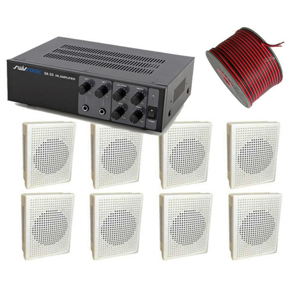 Sistem Audio STUDIO-M AMBIENT 1-WALL, 8 boxe perete imagine spy-shop.ro 2021