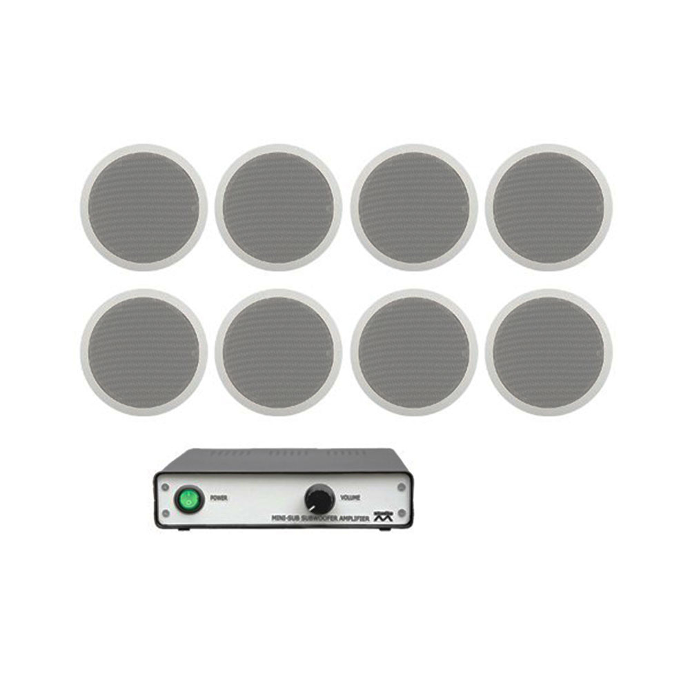 Sistem audio Studio-M Ambient-Basic , 8 boxe tavan , amplificator stereo imagine spy-shop.ro 2021