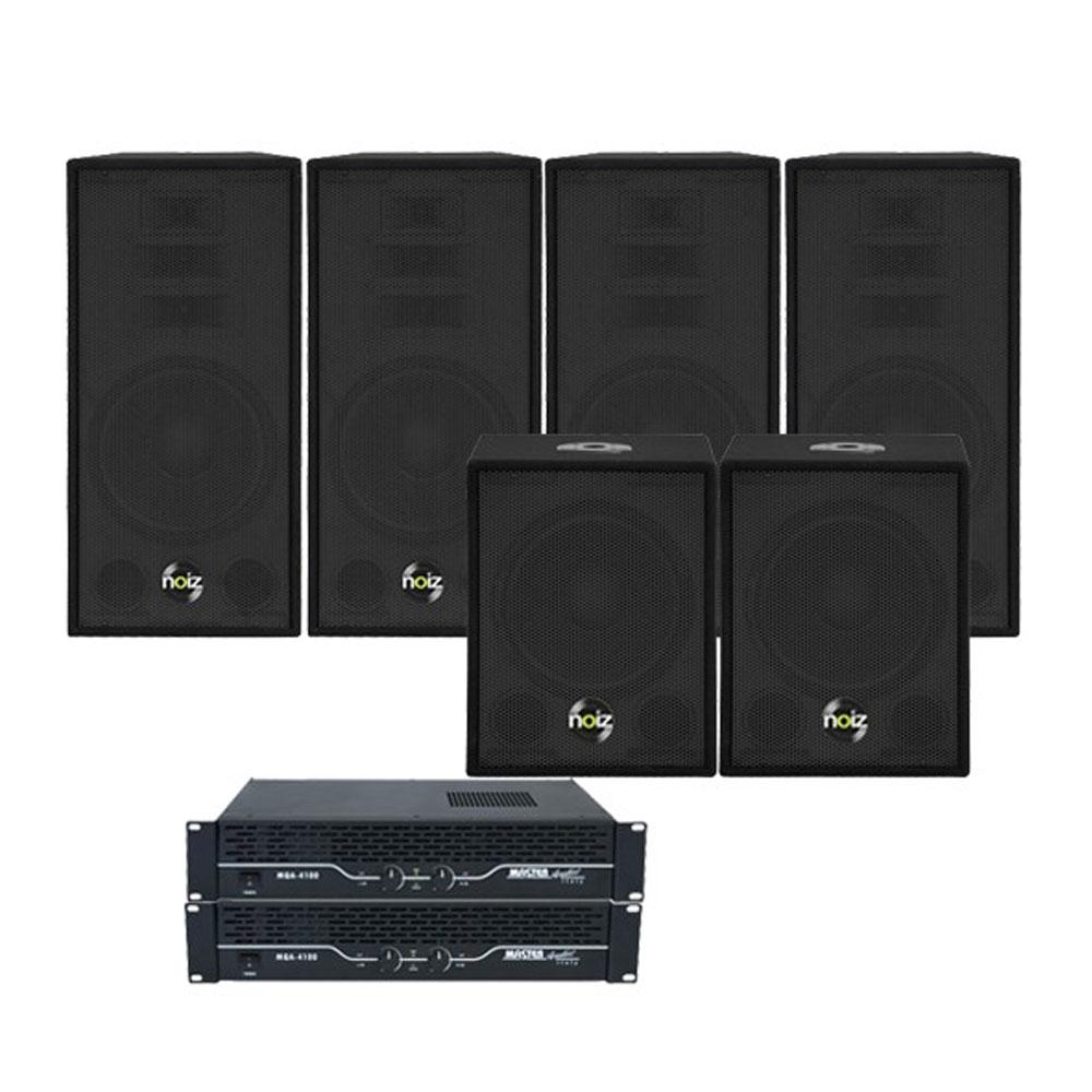 Sistem boxe Noiz Dj-Box Deep Sound 906034, 1200 W, 12 inch, plug and play