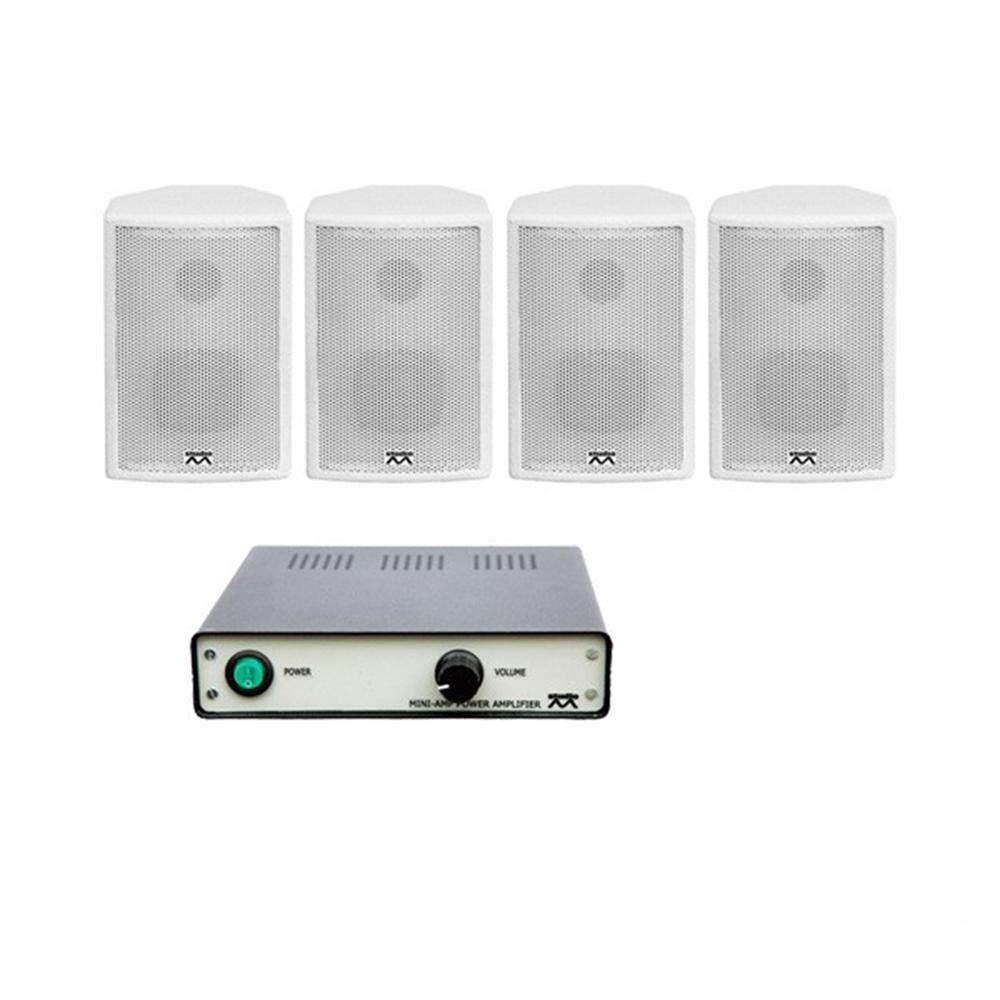 Sistem audio STUDIO-M Jazz 1 Basic, boxe perete, alb imagine spy-shop.ro 2021