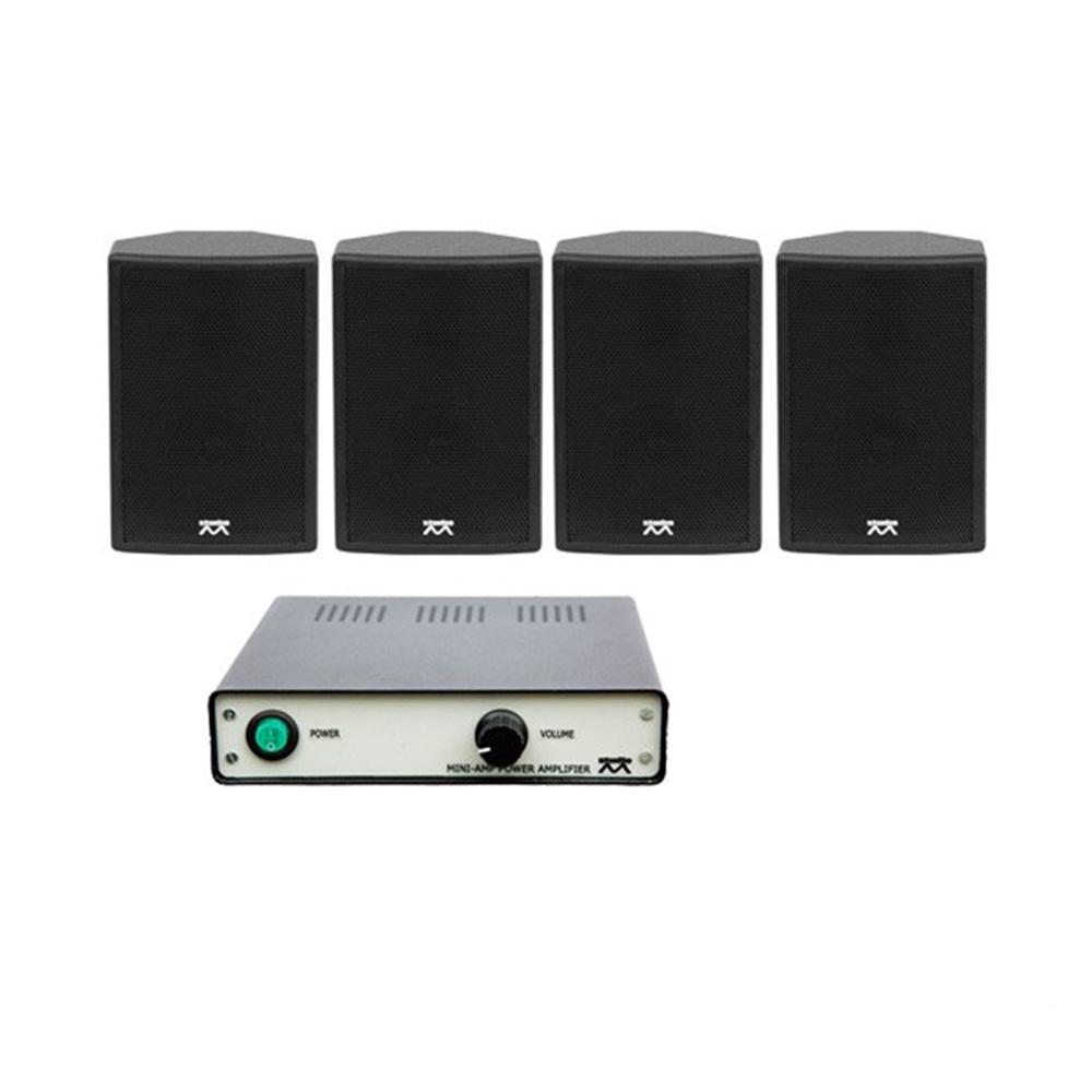 Sistem audio STUDIO-M Jazz 1 Basic, boxe perete, negru imagine spy-shop.ro 2021