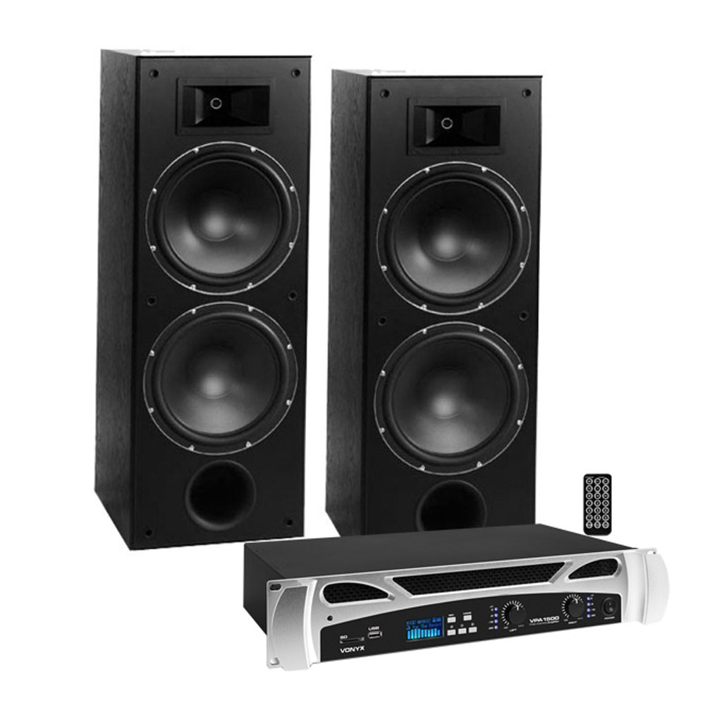 Sistem boxe Tosnil Zeus VPA1000 019630, 2x250 W, 12 inch, bluetooth