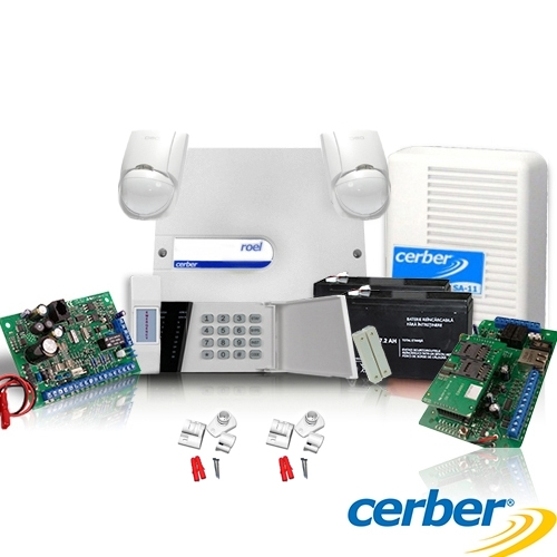 SISTEM ALARMA ANTIEFRACTIE CERBER C52 + COMUNICATOR IP/GPRS