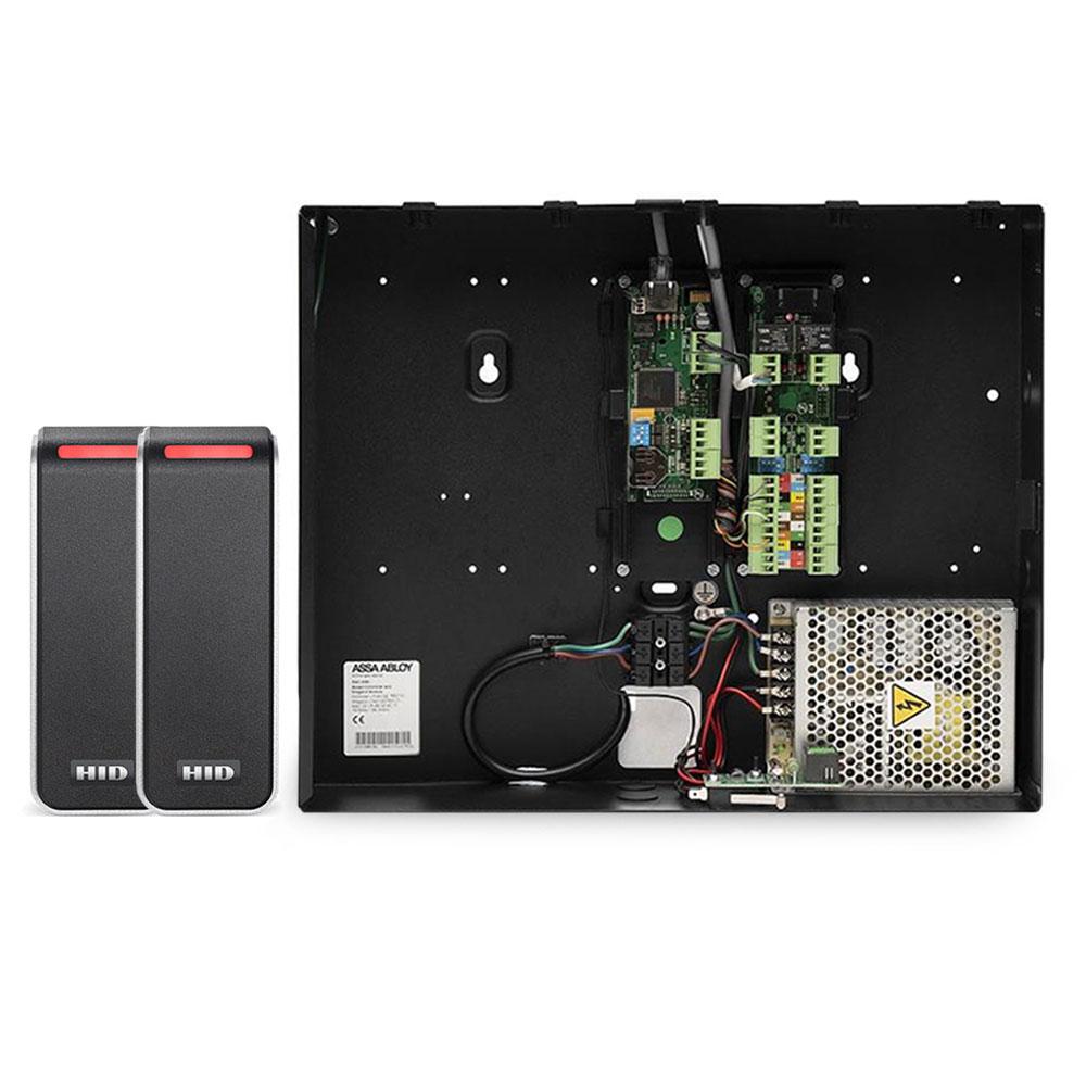 Sistem de control acces Incedo - Assa Abloy pentru 2 usi unidirectionale, cu cititoare HID KIT-EAC-M50-SIGNO-READER-20, RFID, Wiegand, 1.000 utilizatori, 100.000 evenimente