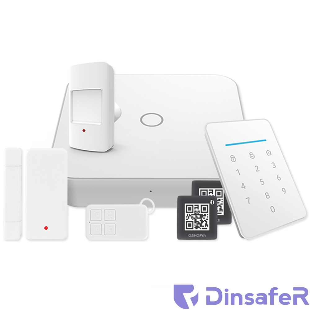 SISTEM DE ALARMA SMART WIRELESS WIFI/GSM/RFID DINSAFER NOVA01B