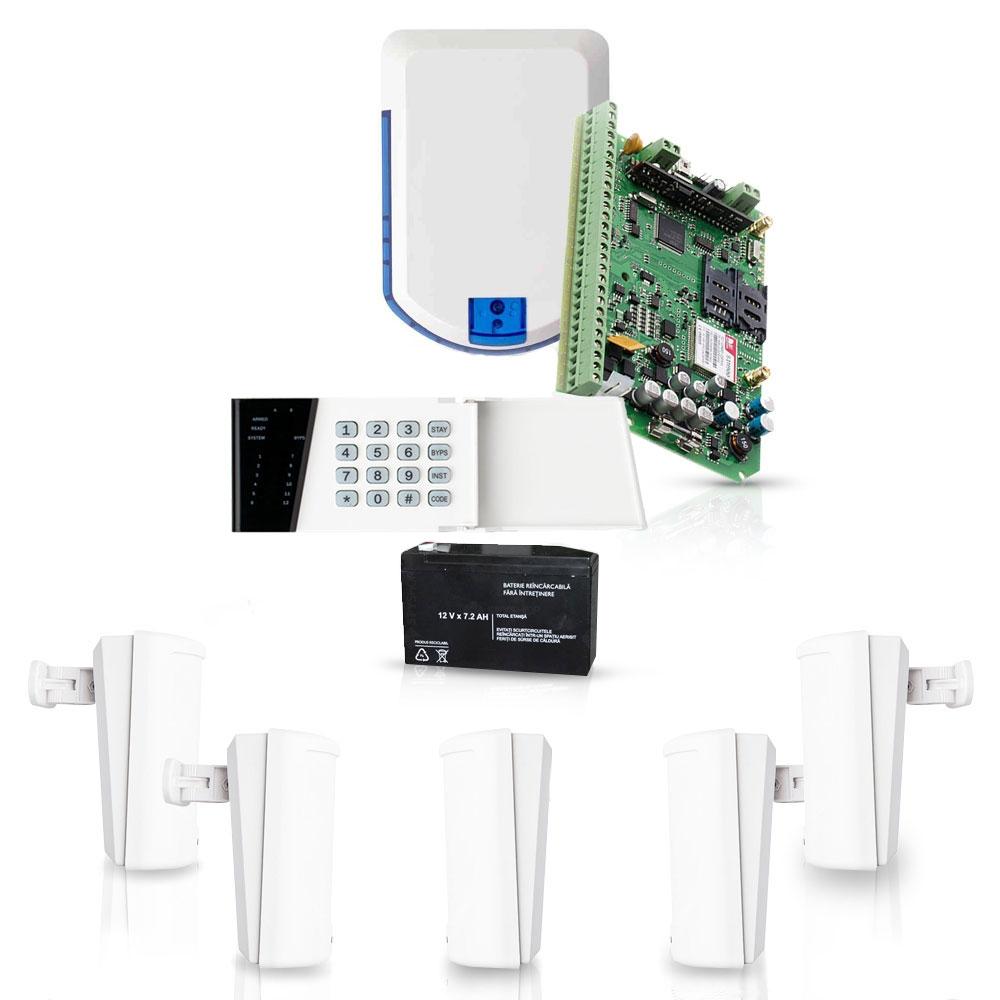 Sistem de alarma wireless Eldes, GSM/GPRS, 32 zone, 4 partitii, 5 detectoare imagine spy-shop.ro 2021