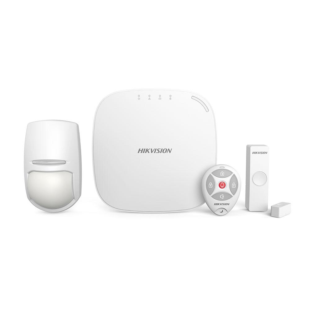 Sistem de alarma wireless HikVision DS-PWA32-KG, 4 partitii, 32 zone, GPRS, 433 MHz imagine spy-shop.ro 2021