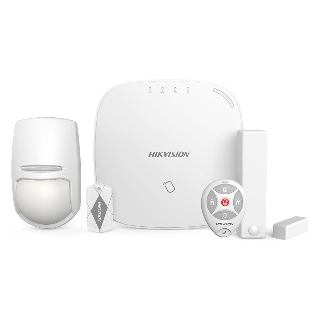 Sistem de alarma wireless LAN+WiFi HikVision DS-PWA32-NKT, 4 partitii, 32 zone, 868 MHz, card IC imagine spy-shop.ro 2021