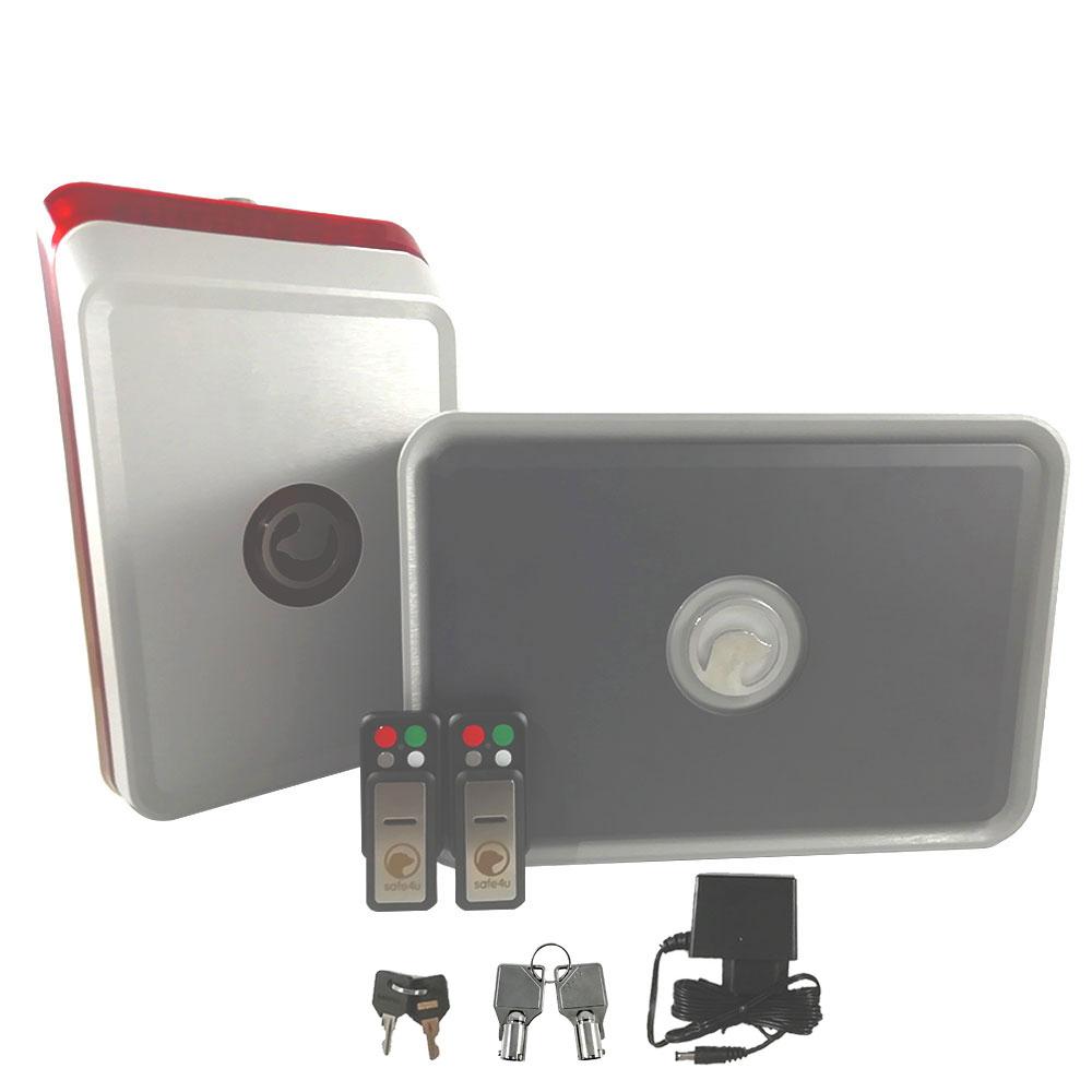 Sistem de alarma wireless Safe4u RO911141AAS, infrasunet, 120 dB, 800 m2 imagine spy-shop.ro 2021