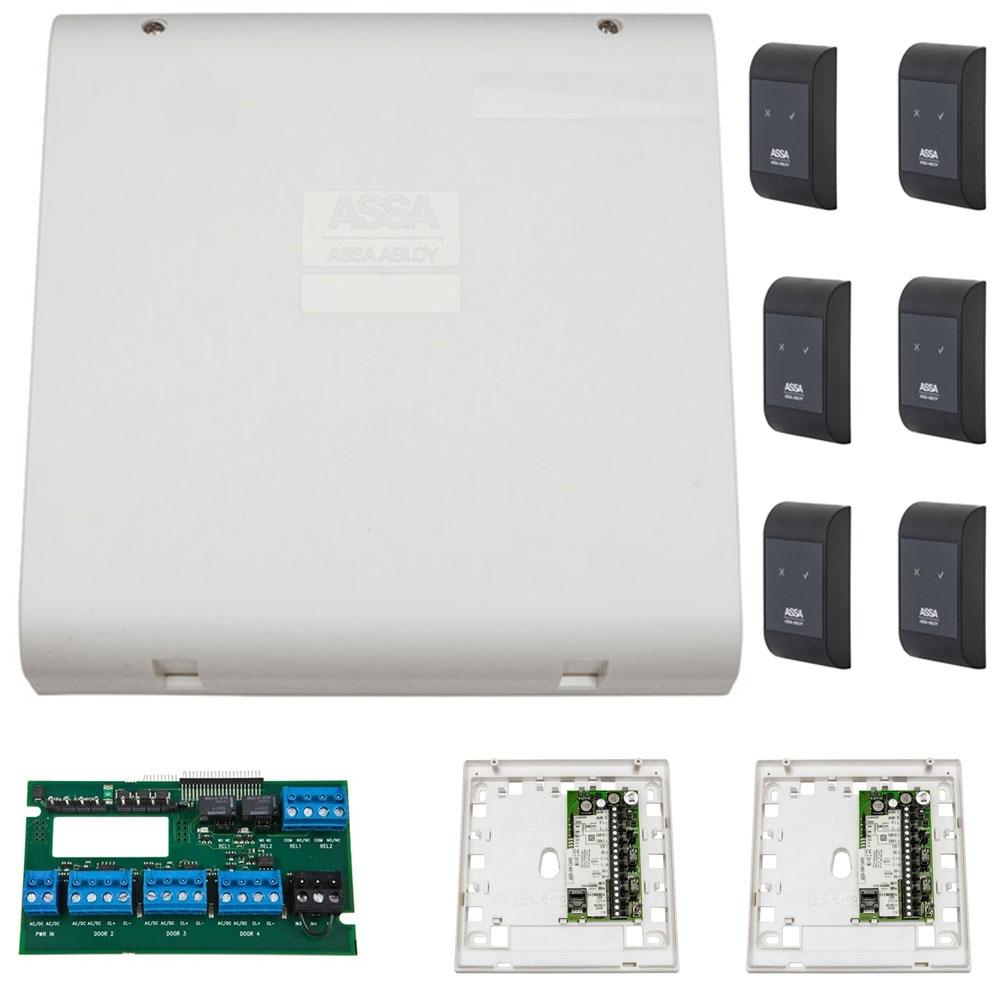 Sistem de control acces pentru 3 usi bidirectionale Assa Abloy RX WEB 9101IV-3B, 100000 carduri, 13.56 MHz imagine spy-shop.ro 2021