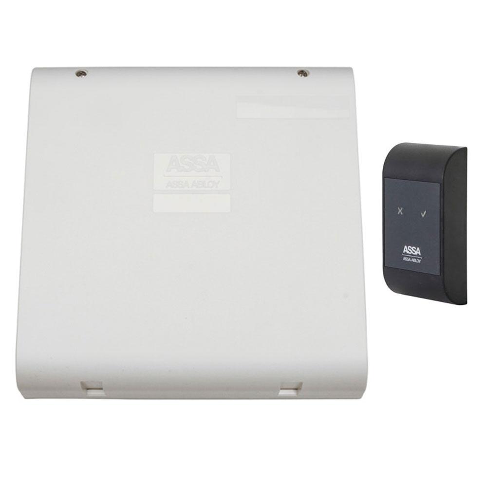 Sistem de control acces pentru o usa unidirectionala Assa Abloy RX WEB 9101IV-1U, 100000 carduri, 13.56 MHz imagine spy-shop.ro 2021