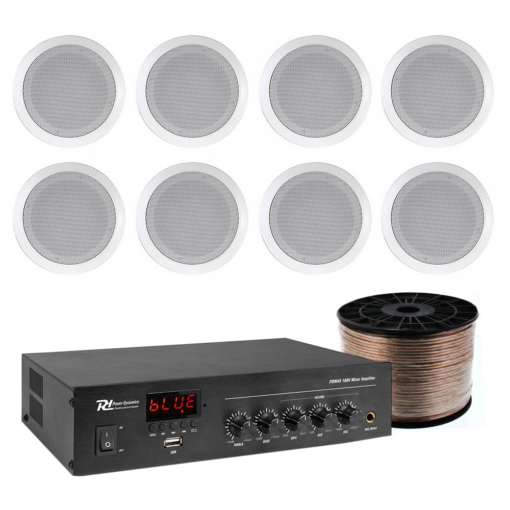 Sistem de sonorizare Ambient Studio-M 1-C Bluetooth, 8 boxe tavan