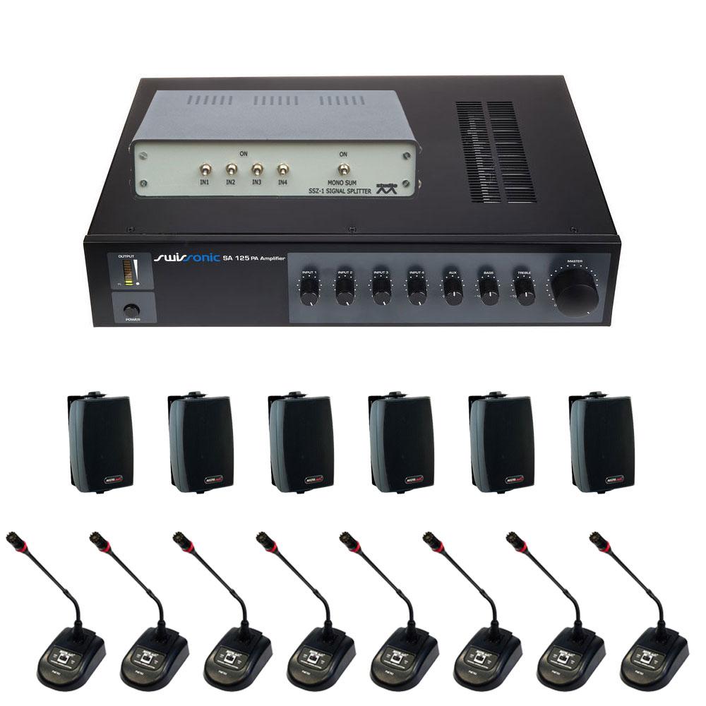 Sistem de sonorizare SA125-NO3051-BT400-PM782, 1 canal, 120 W imagine spy-shop.ro 2021