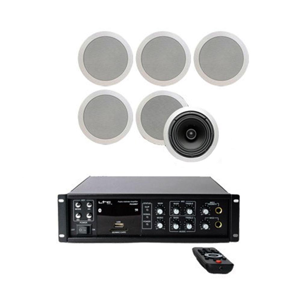 Sistem de sonorizare STUDIO-M Chillout 2, USB-FM-Bluetooth, 6 boxe perete imagine spy-shop.ro 2021