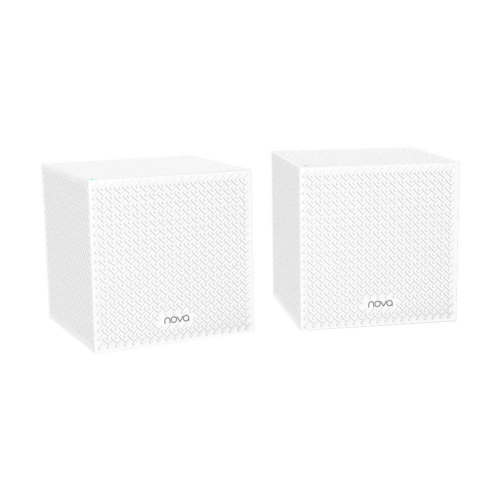 Sistem Mesh wireless Tri Band Tenda Nova MW12 (2-pack), 2.4/5.0 GHz, 350 m, 1200 Mbps