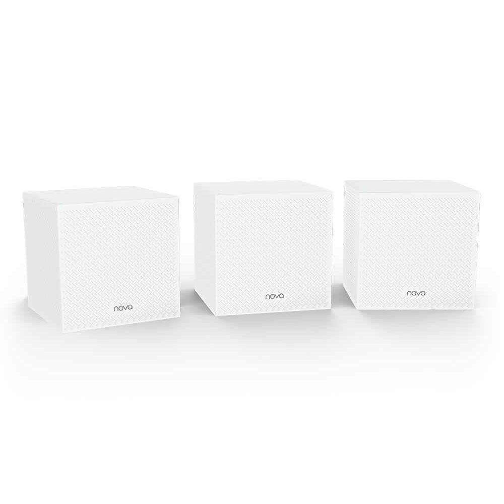 Sistem Mesh wireless Tri Band Tenda Nova MW12 (3-PACK), 2.4/5.0 GHz, 350 m, 1200 Mbps