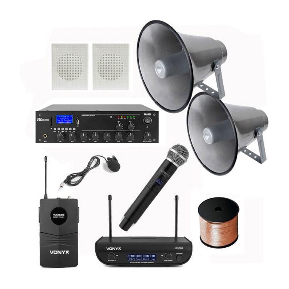 Sistem microfoane Biserica 11, Wireless, sistem goarne, boxe interior