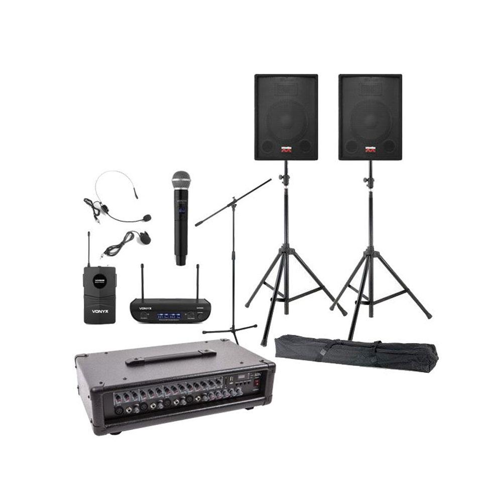 Sistem sonorizare Biserica 1, portabil, microfon wireless