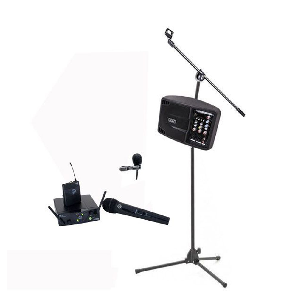 Sistem sonorizare Biserica 8, portabil, microfon wireless