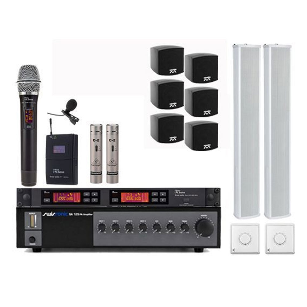 Sistem sonorizare Biserica PRO-2 Designer, microfon wireless
