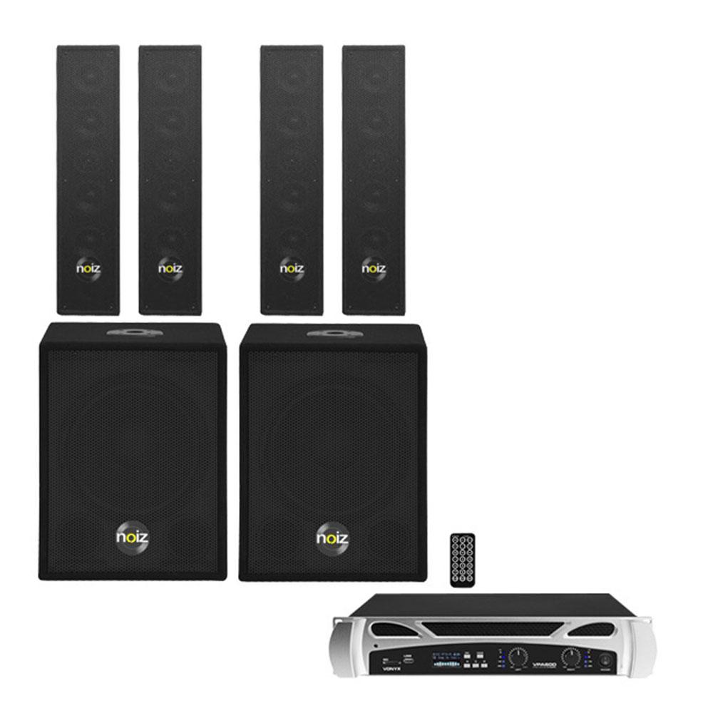 Sistem sonorizare Noiz Satellite Bass Box Complete-VPA1000 022145, 1000 W, 12 inch, bluetooth