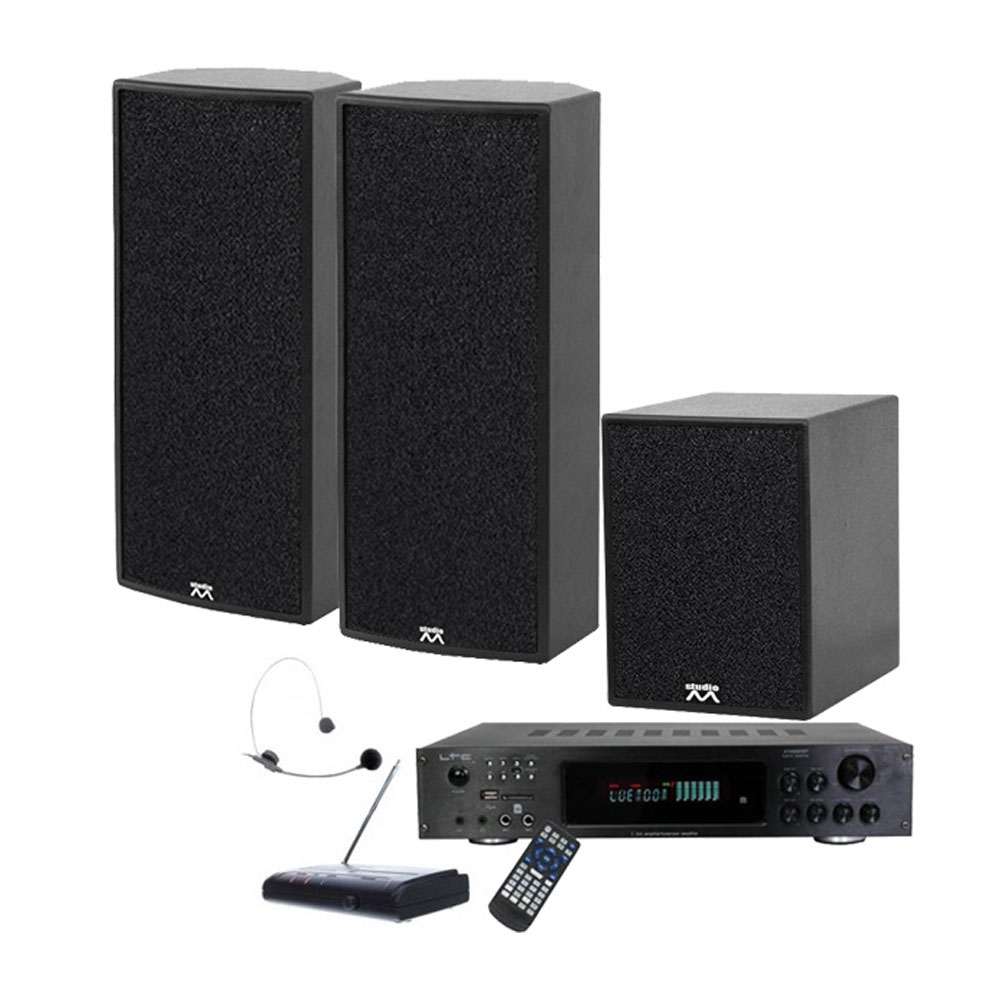 Sistem sonorizare Sport Center 1 X-Bass Noiz 909004, 300 W, bluetooth, microfon headset, fitness