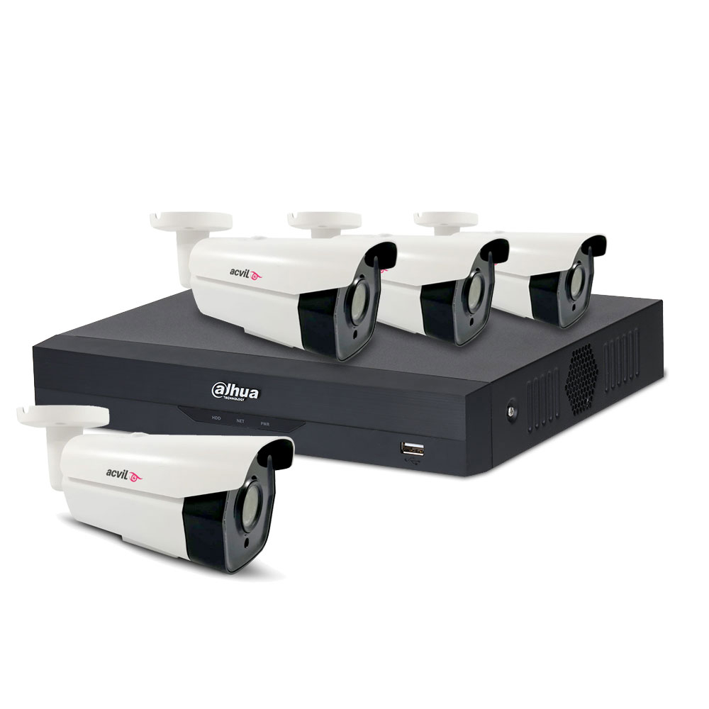 Sistem supraveghere exterior basic Acvil AD-4EXT60-2MP, 4 camere, 2 MP, IR 60 m, POS, IoT imagine spy-shop.ro 2021