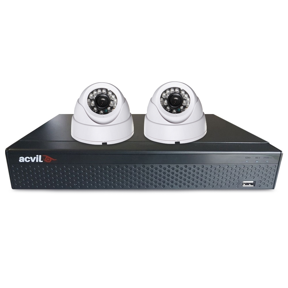 Sistem supraveghere interior basic Acvil B2INT20-2MP, 2 camere, 2 MP, IR 20 m imagine spy-shop.ro 2021