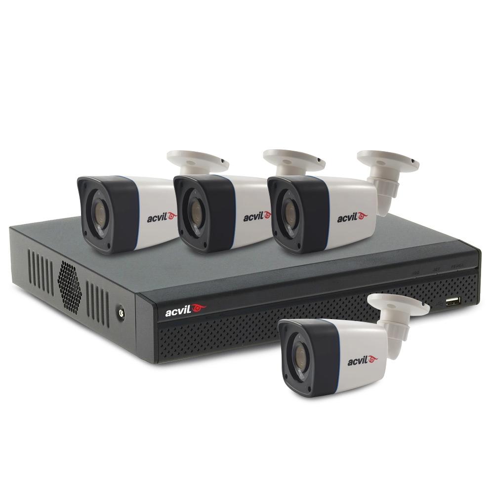 Sistem supraveghere exterior basic Acvil B4EXT20-2MP-V2, 4 camere, 2 MP, IR 20 m imagine spy-shop.ro 2021