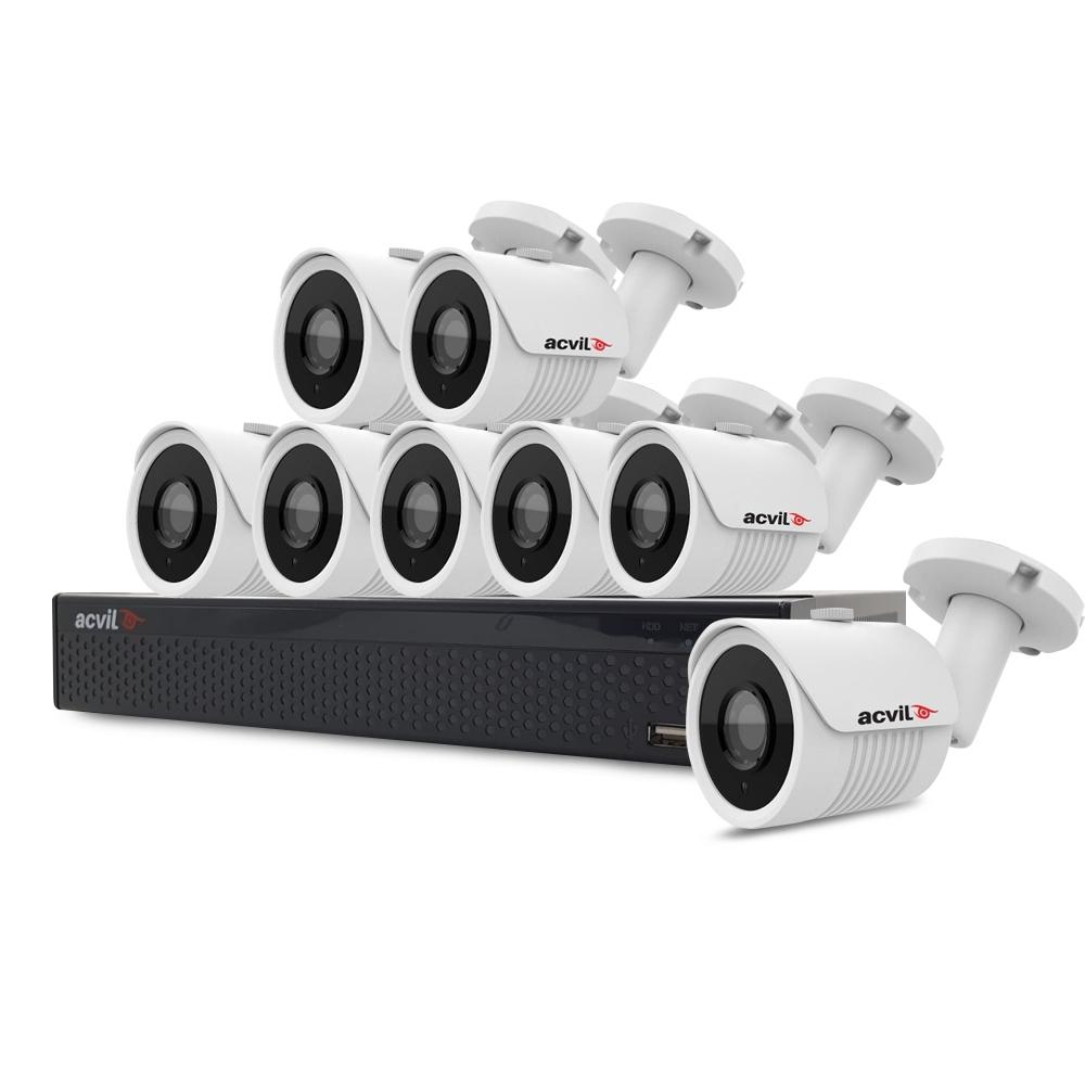 Sistem supraveghere exterior basic Acvil B8EXT30-2MP, 8 camere, 2 MP, IR 30 m imagine spy-shop.ro 2021