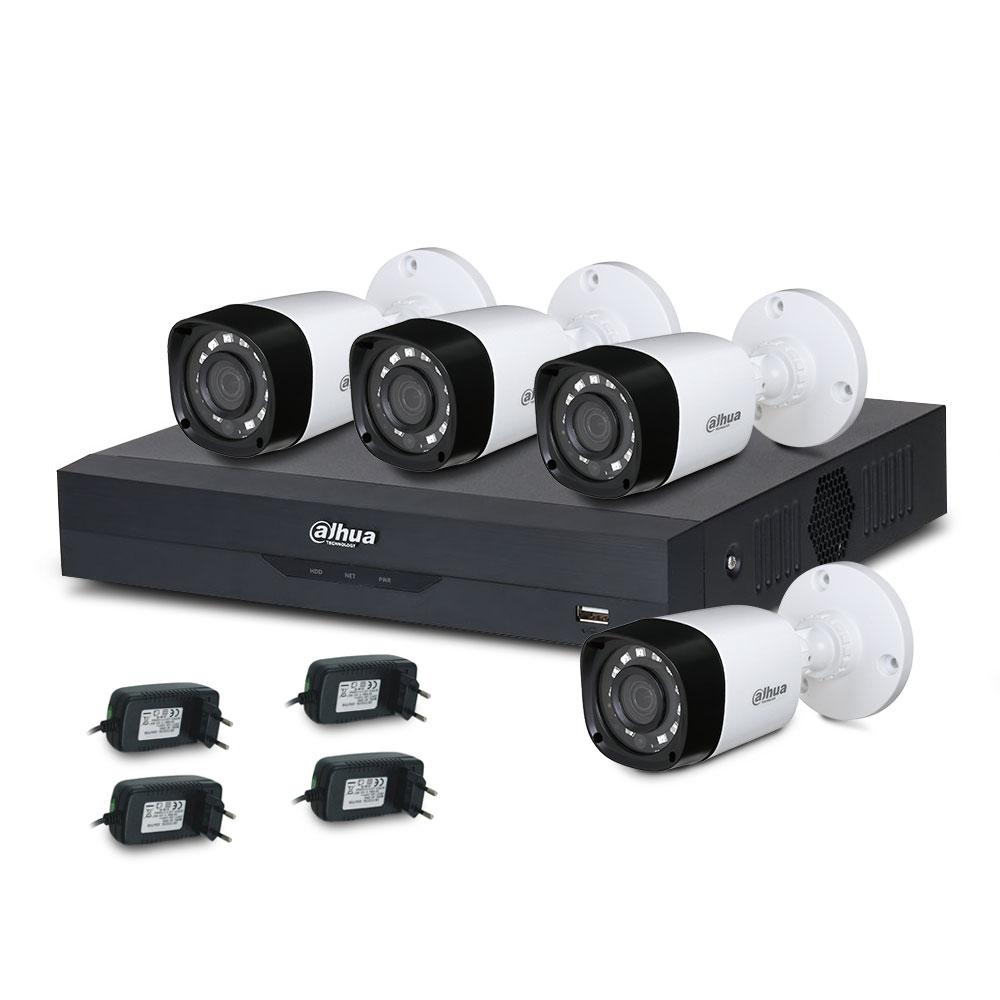 Sistem supraveghere exterior basic Dahua B4XT20-2MP, 4 camere, 2 MP, IR 20 m, PoS, IoT imagine spy-shop.ro 2021