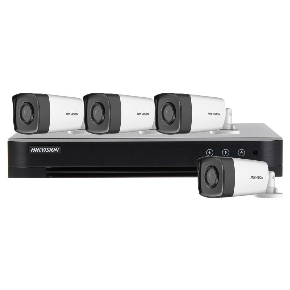 Sistem supraveghere exterior basic Hikvision Turbo HD HK-4EXT40M-2MP, 4 camere, 2 MP, IR 40 m, 2.8 mm