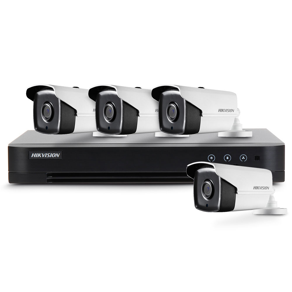Sistem supraveghere exterior basic Hikvision Turbo HD HK-4EXT80M-2MP, 4 camere, 2 MP, IR 80 m, 3.6 mm imagine spy-shop.ro 2021