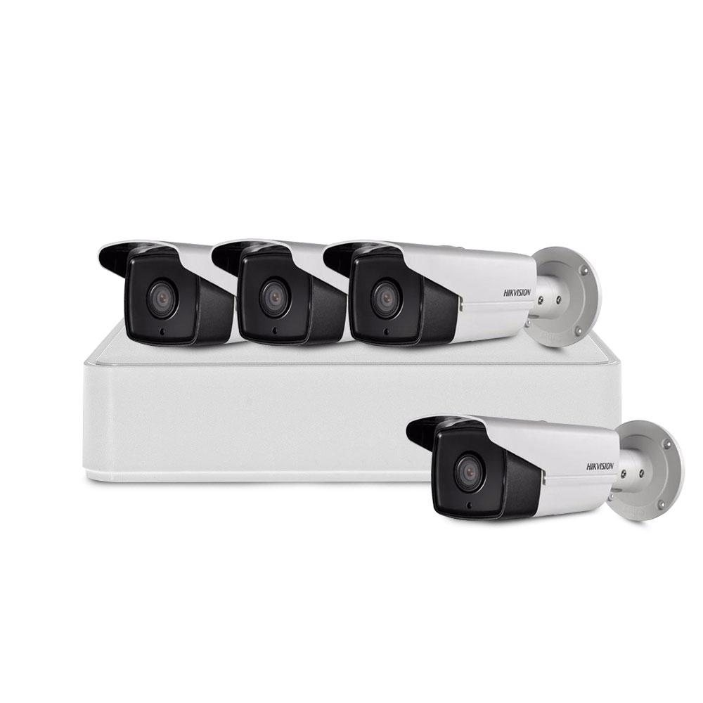 Sistem supraveghere exterior basic Hikvision TVI-4EXT40-720P-S, 4 camere, 1 MP, 40 m imagine spy-shop.ro 2021