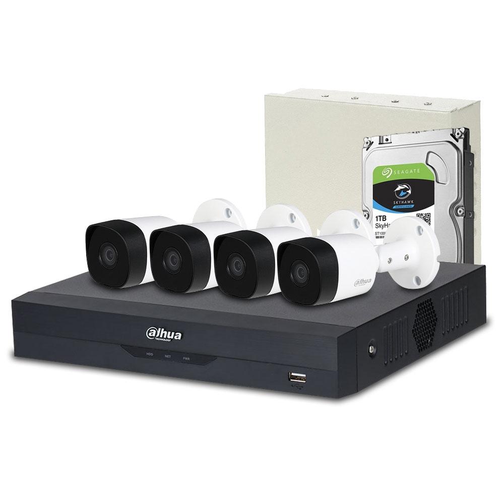 Sistem supraveghere exterior complet Dahua DH-C4EXT20-2MP, 4 camere, 2 MP, IR 20 m, POS, IoT imagine spy-shop.ro 2021