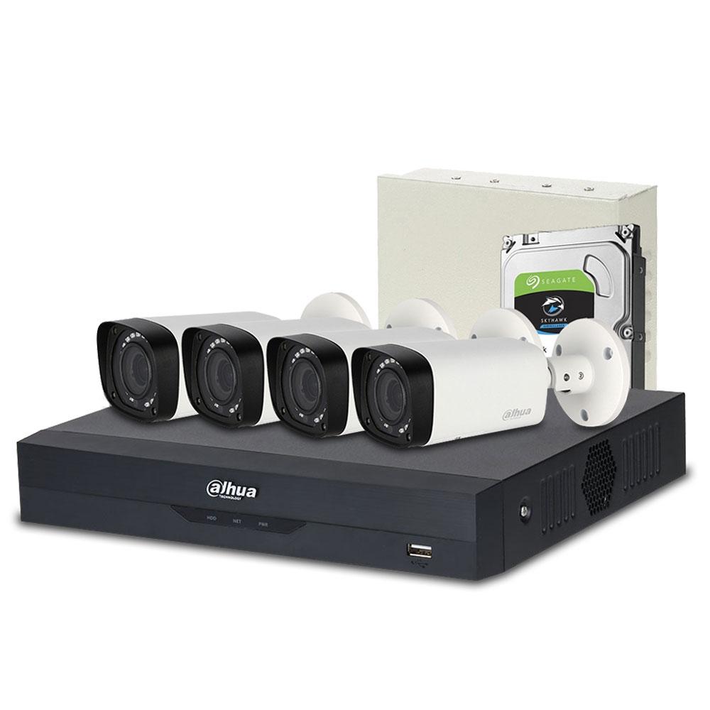Sistem supraveghere exterior complet Dahua DH-C4EXT30-2MP-VF, 4 camere, 2 MP, IR 30 m, POS, IoT imagine spy-shop.ro 2021